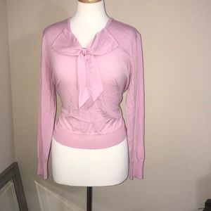 J Crew Pink bow sweater